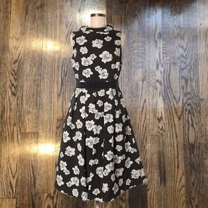 Floral black and white Freya dress